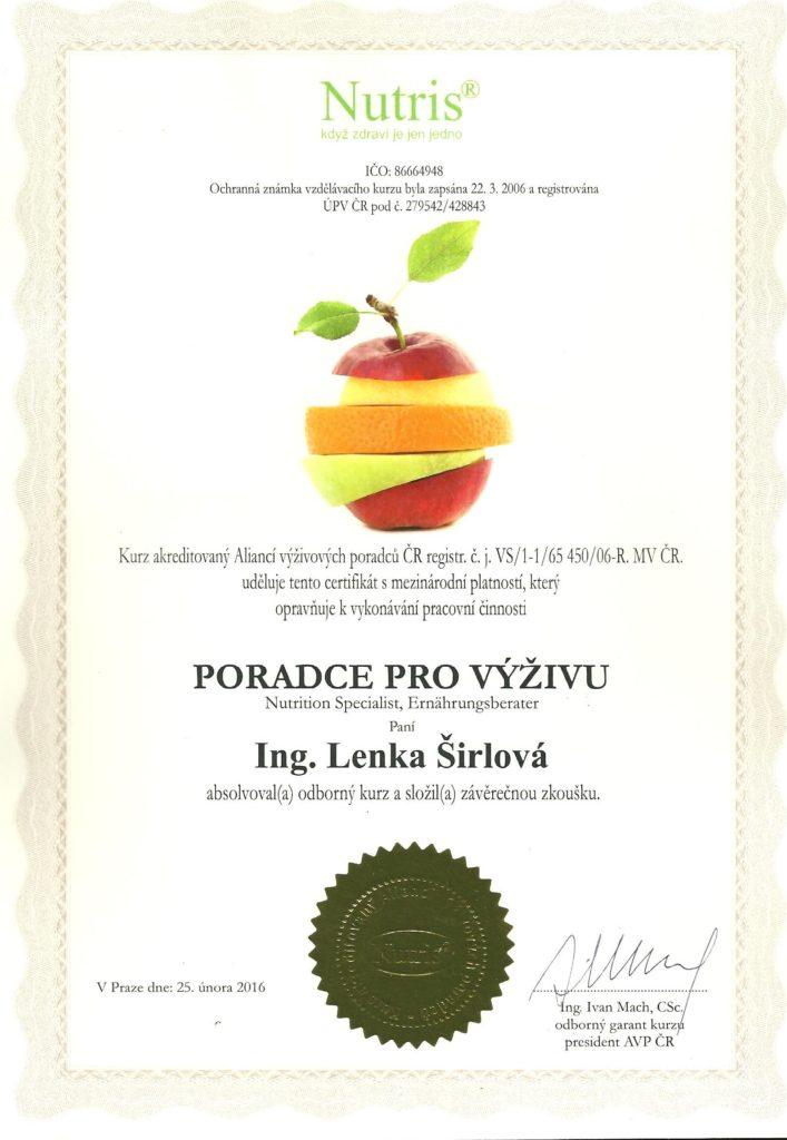 Nutris certifikát